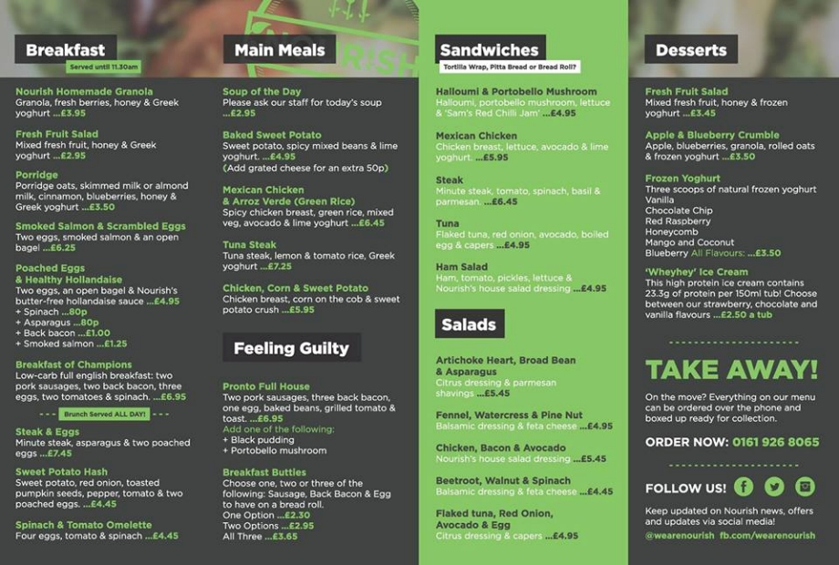 Pressed Juicery Food Menu